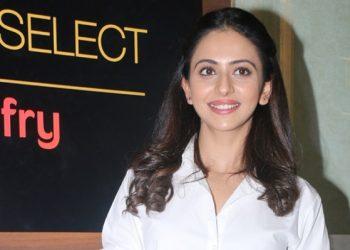 Mumbai: Actress Rakul Preet Singh at the launch of Carnival cinema Lounge in Mumbai on Feb 16, 2018. (Photo: IANS)