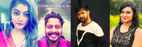 From Right (Prakruti, Roshan, Sabyasachi, Aiswarya)