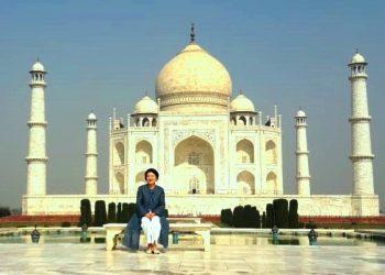 South Korean First Lady Kim Jung Sook at the Taj Mahal.