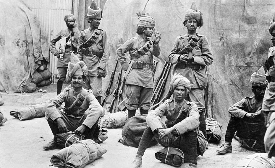 Indian soldiers serving in France were known for their fighting spirit
