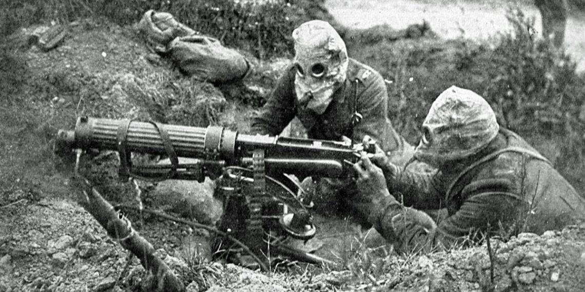Machine gun during WWI