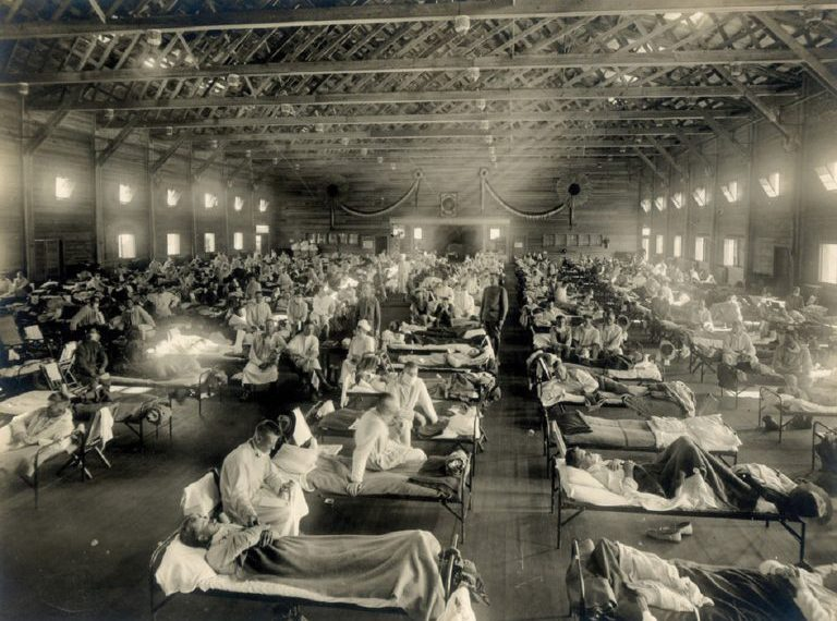 The terrible flu epidemic known as the Spanish sick killed up to 100 million. people or almost 5% of the world's population when it ravaged from 1918-20