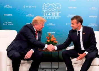 French President Emmanuel Macron and US President Donald Trump.