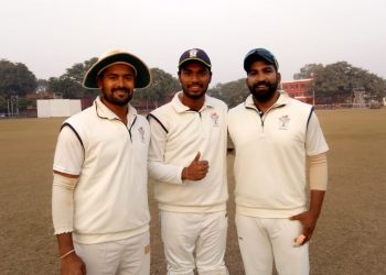 (From L): Abhishek Raut, Debashis Samantray and Anurag Sarangi batted well for Odisha against Jammu & Kashmir