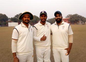 (From L): Abhishek Raut, Debashis Samantray and Anurag Sarangi batted well for Odisha against Jammu & Kashmir