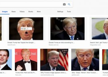 Google image search for the word Idiot in America.