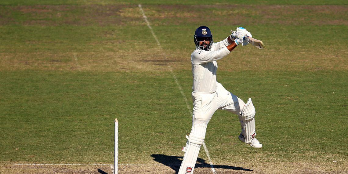 Murali Vijay plays a lofted cut en route to his century against CA XI at SCG, Saturday