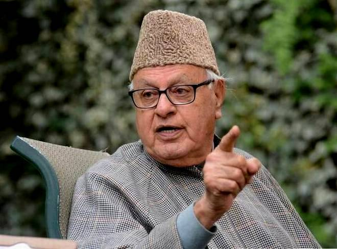 Former state Chief Minister and National Conference (NC) President Dr Farooq Abdullah