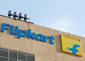 The logo of Flipkart is seen on the company's office in Bengaluru, India, May 9, 2018. (REUTERS)