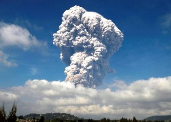 Mount Soputan erupted twice -- first at 7.43 a.m. and the second at 8.57 a.m.