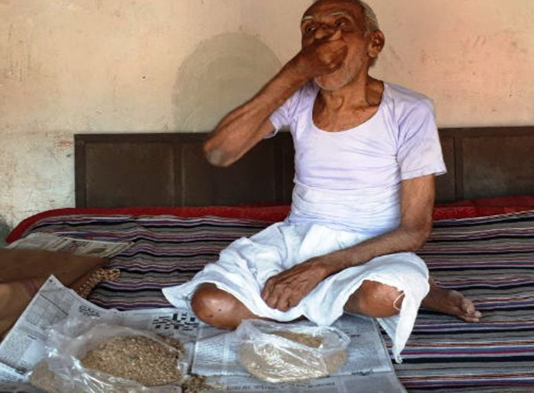, Sand is integral part of this octogenarian's daily diet
