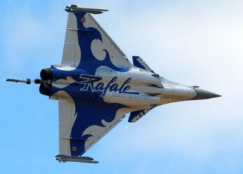 A Dassault Rafale fighter takes part in flying display during the 52nd Paris Air Show at Le Bourget Airport near Paris, France June 25, 2017. REUTERS/Pascal Rossignol