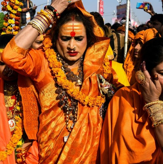 Laxmi Narayan Tripathi has for decades fought to put her transgender community on a par with the rest of society (AFP)