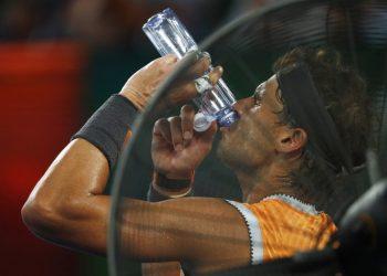 Tennis - Australian Open - Semi-final - Melbourne Park, Melbourne, Australia, January 24, 2019. Spain's Rafael Nadal during the match against Greece's Stefanos Tsitsipas. (REUTERS)
