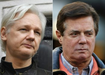 The investigation follows international subpoenas from the US Department of Justice, which is probing a report that President Donald Trump's disgraced former 2016 campaign chairman Paul Manafort held secret talks with Julian Assange (AFP)