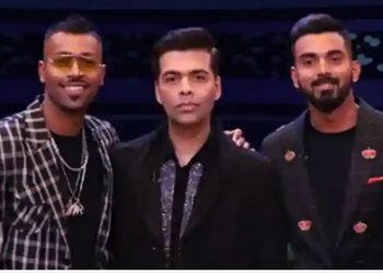 (From left): Hardik Pandya, Karan Johar and KL Rahul