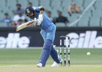 India skipper Virat Kohli flicks one through the leg-side during his match winning knock against Australia at Adelaide, Tuesday