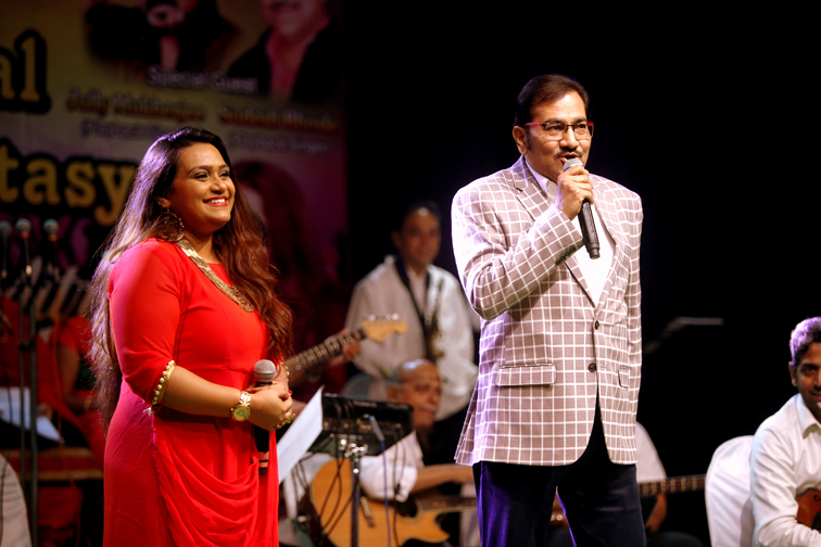 Priyanka With Sudesh Bhonsle