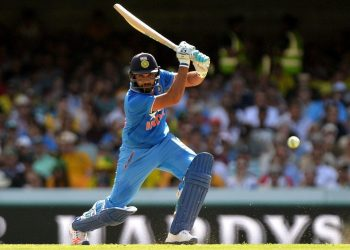 Rohit Sharma top scored for India
