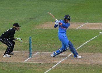 Indian batswoman Smriti Mandhana pulls during her match-winning knock against New Zealand, Tuesday