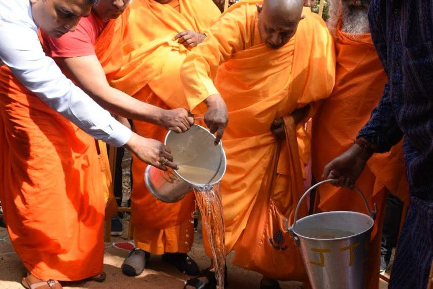 , Bodhi sapling planted at Dhauligiri