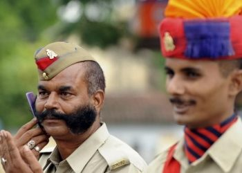 Police officers in Madhya Pradesh are given a slight pay upgrade for having a moustache. Their bosses believe that its lets them command more respect.