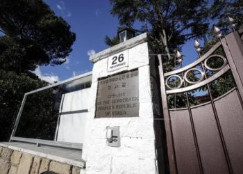 An exterior view of the North Korean embassy in Rome, Italy, Jan. 3 (AFP)