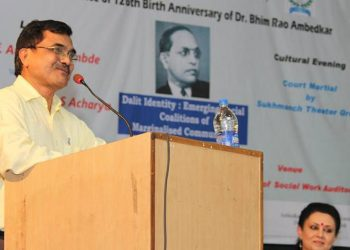 Anand Teltumbde at a conference on Dalit Identity
