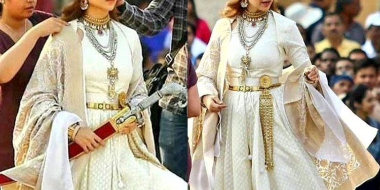 "In the sets of ""Manikarnika: The Queen of Jhansi"""