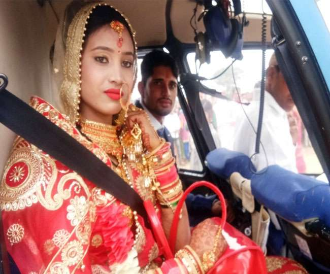 , Helicopter lands first time in Haryana village for marriage of labourer's daughter