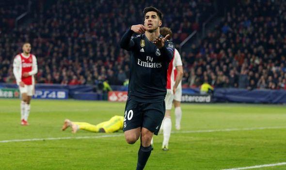 Asensio got the winner for Real Madrid against Ajax