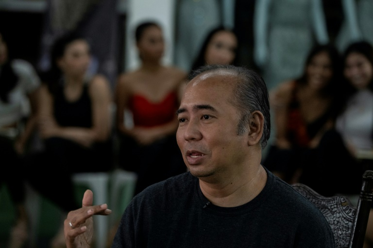 Rodgil Flores set up the first of a handful of Philippine beauty boot camps that have helped transform the nation's pageant fortunes (AFP)