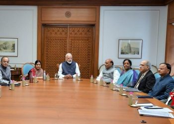 The meeting of the CCS committee which took place Tuesday morning in New Delhi  Photo courtesy ANI