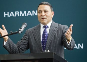 Harman CEO Dinesh Paliwal: If your phone gets hacked, it's a headache. With a car it's life or death. (AP)