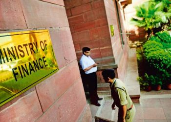 The Ministry of Finance office in New Delhi (PTI)