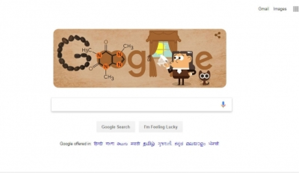 , Google Doodle raises a cup to German coffee chemist Runge