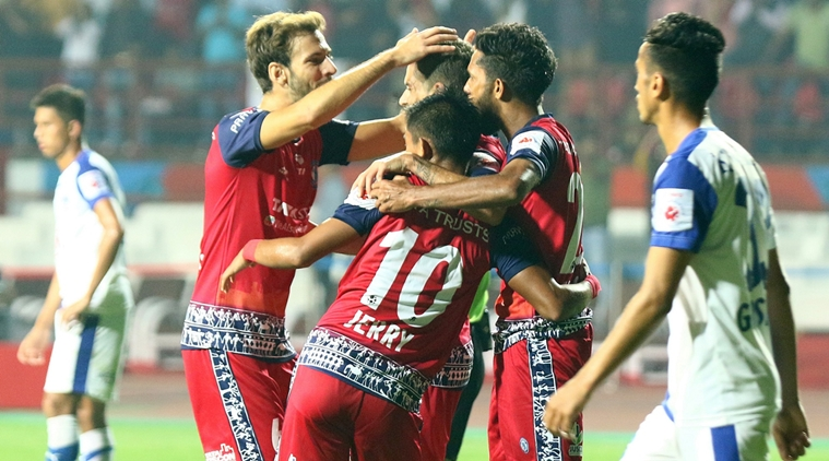 Bengaluru finished the league stage at the top of the table while Jamshedpur at 5th.