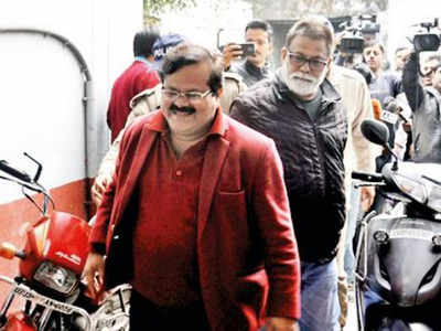 Shwetabh Suman in the red blazer was also fined Rs. 3.50 crore in the DA case.