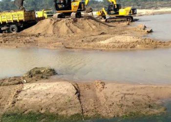 Illegal sand mining