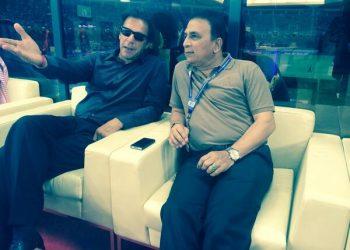 During good times: Imran Khan and Sunil Gavaskar