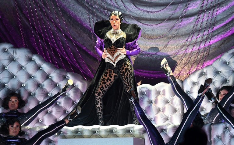 US rapper Cardi B performs at the Grammys -- she made history by becoming the first woman to win the prize for Best Rap Album (AFP)