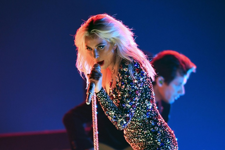 """When the moment came for Lady Gaga to belt out her award-winning song """"Shallow"""" at the Grammys, she did not disappoint (AFP)"""