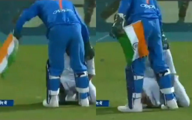 , Dhoni's patriotic gesture with Tricolour goes viral, draws huge applause