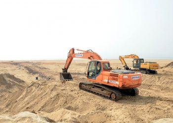 Illegal sand mining in Puri