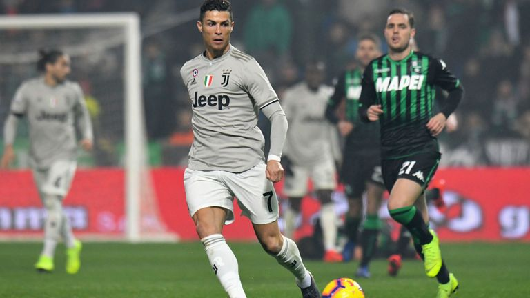 , Ronaldo in the act again as Juve thrash Sassuolo in Serie A