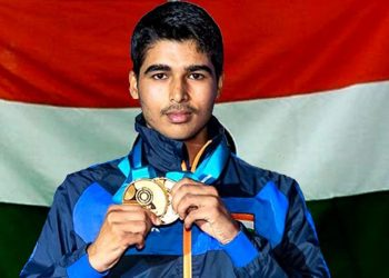 This was India's second medal in the tournament, with Apurvi Chandela winning a gold in the women's 10m air rifle category Saturday.