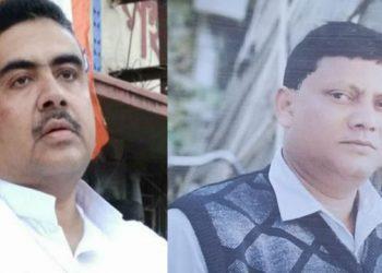 Minister Subhendhu Adhikari (L) and the deceased Ritesh Roy