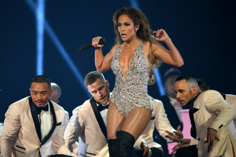 US singer Jennifer Lopez performs a Motown medley at the Grammys -- with some of her trademark sass (AFP)