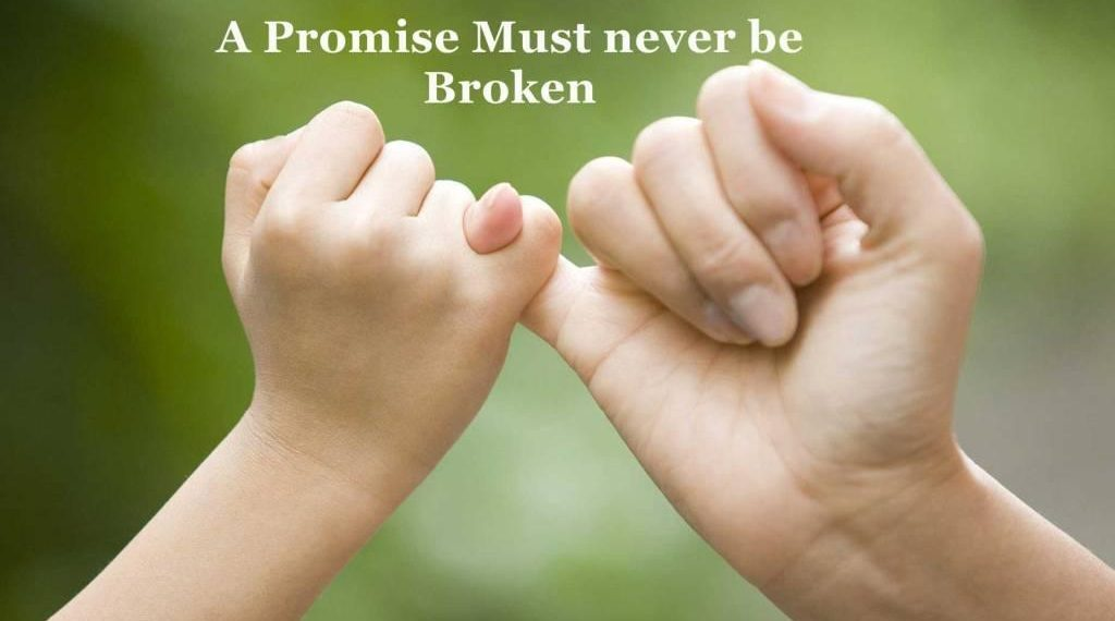, PROMISE DAY:'Just promise me you'll think of me…'