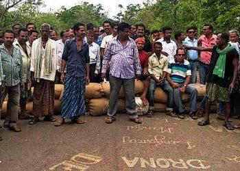 Farmers strike at Kukridima